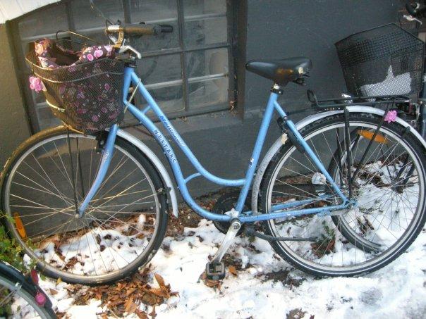 My very own bike in Copenhagen! I still miss it very much.