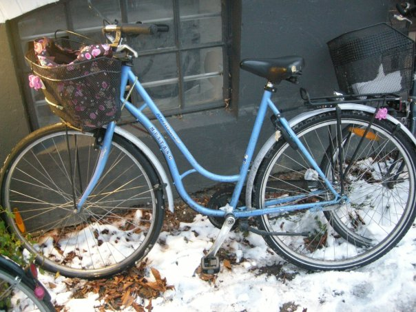 My very own bike in Copenhagen! I still miss it very much.