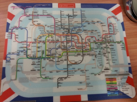 A souvenir I bought myself from SEOUL, a LONDON railway map.