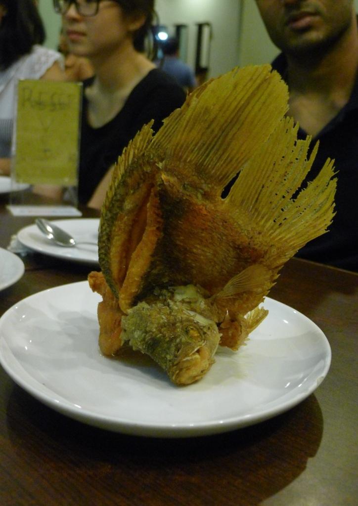 Crispy, curly fish.