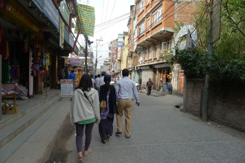Typical street in Kathmandu