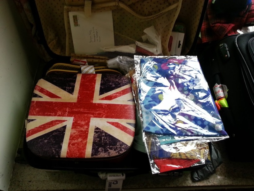 The Union Jack briefcase that took up half of my suitcase.