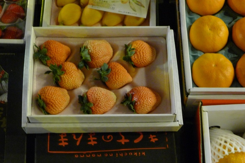 Apparently a box of these snow strawberries cost SGD 1,000!