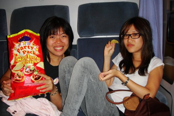 My very first European train ride 5 years ago, from Copenhagen to Amsterdam. I wouldn't mind reliving that party pack of nachos too.