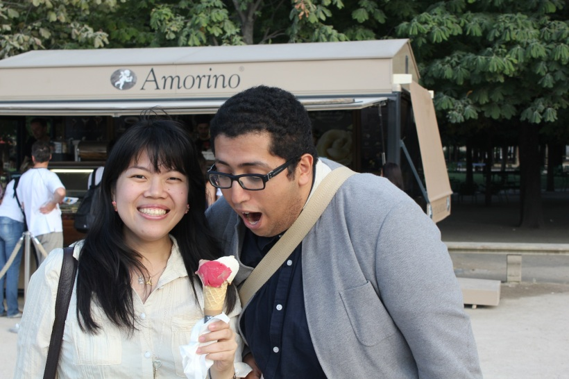 If anything, I look happier (and rounder) now in the presence of ice cream.