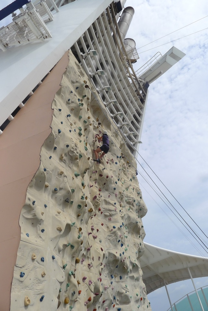 Notice that this girl reached the top of the wall? Yeah, that's not me.
