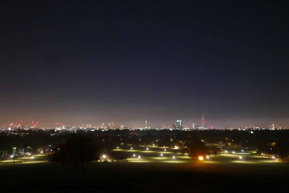 Guy Fawkes Night from Primrose Hill, London.